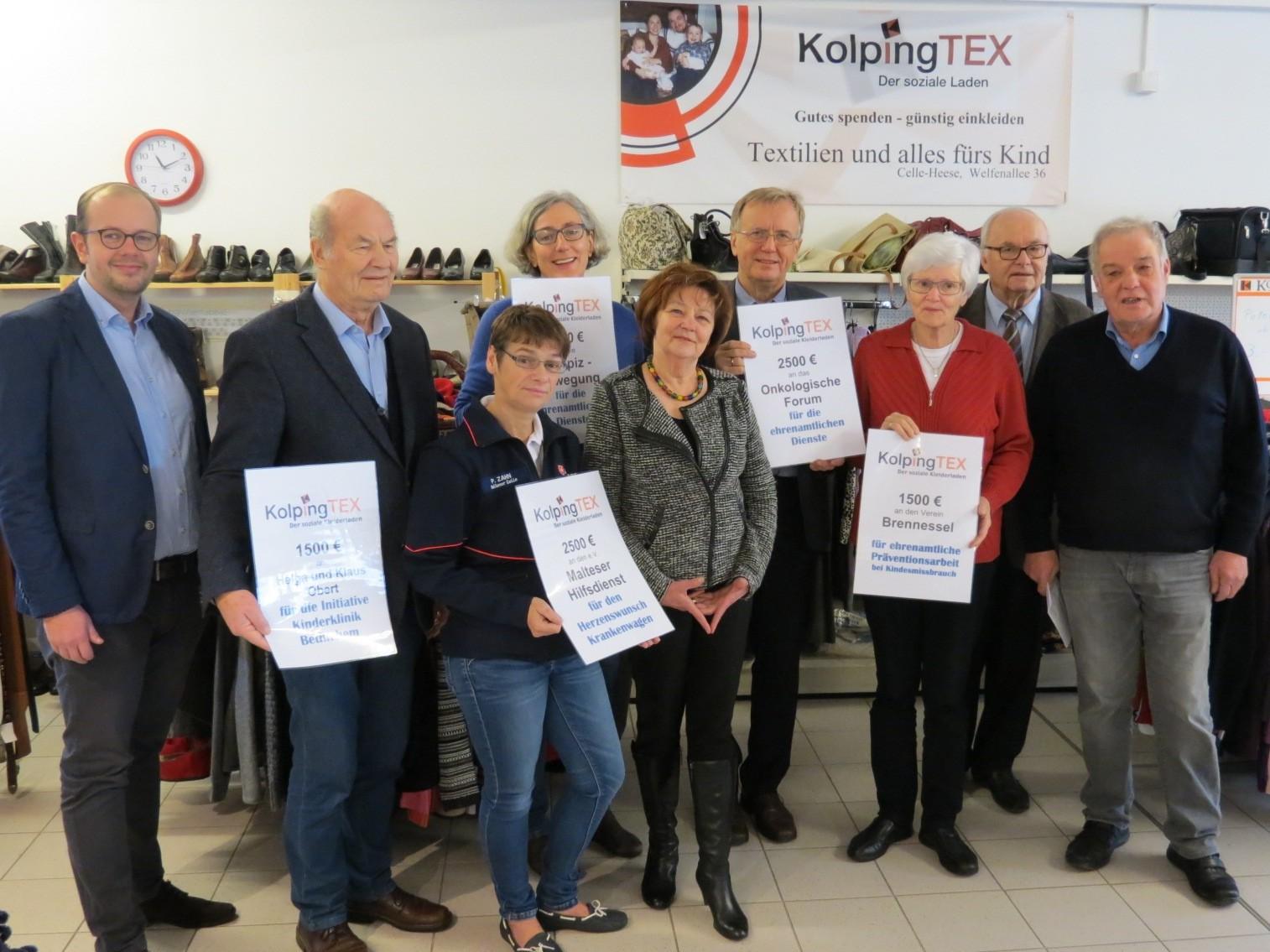 Spendenaktion: KolpingTEX aus Celle hilft kranken Menschen